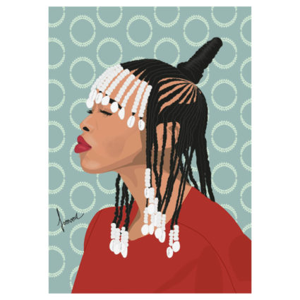 Affiche BRAIDS and BEADS  - Famma B.